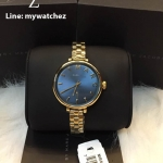 MARC BY MARC JACOBS Slim Baker Blue Dial Gold Stainless MBM3366