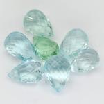 พลอยอะความาลีน (Aquamarine) พลอยธรรมชาติแท้ น้ำหนัก 5.10 กะรัต
