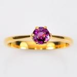 แหวนทองคำแท้ ประดับโกเมนสีม่วง
