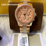 Michael Kors 'Runway' Crystal Chronograph Bracelet Watch,