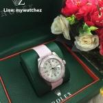 Rolex Submariner Date - White Dial Bamford Pink Bezel
