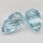 พลอยอความารีน (Aquamarine) พลอยธรรมชาติแท้ น้ำหนัก 3.30 กะรัต