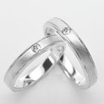 แหวนคู่รักฝังพลอยแท้ แหวนเงินแท้ 925 ชุบทองคำขาว ฝังพลอยเพทาย