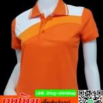 เสื้อโปโลสำเร็จรูป ส้ม-สไลท์ เนื้อผ้าไมโคร พร้อมส่งทั่วไทย