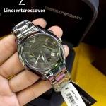 Emporio Armani AR1465 Valente Silver Chronograph Watch