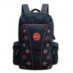 Jeans, Denim Vintage Style Backpack, 14 Stars, Red