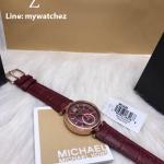 MICHAEL KORS Sawyer Burgundy Dial Burgundy Leather Ladies Watch MK2426