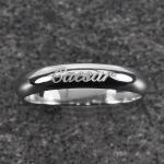 แหวนทองคำขาว สลักชื่อ