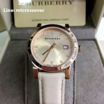 Burberry Rose Dial Rose Gold Ion-plated Ladies Watch BU9131