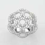 แหวนพลอยแท้แหวนเงิน925 เพชร CZ ตัวเรือน ชุบทองคำขาว