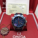 Omega Seamaster Diver 300 Co-Axial Chronograph 44MM - Blue Dial Rubber Strap