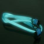 SATA Cable VIZO UV Blue Reflective 90°-180°