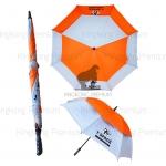 ร่มกอล์ฟสองชั้น สีส้มสลับขาว (T-Space)