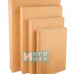สมุดกระดาษปอนด์ถนอมสายตา 75 แกรม ไม่มีเส้น ปกกระดาษคราฟนํ้าตาล 300 แกรม
