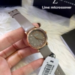 Marc by Marc Jacobs Baker Grey Dial Gravel Gray Leather Ladies Watch MBM1318