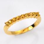 แหวนทองคำแท้ ประดับบุษราคัม