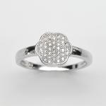 แหวนพลอยแท้ แหวนเงิน925 พลอย เพชร CZ ตัวเรือน ชุบทองคำขาว