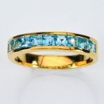 แหวนพลอยบลูโทปาส ตัวเรือนทองแท้