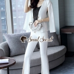 Seoul Secret Say's... Lacely White&Black Outer Lace 3 Pieces Set