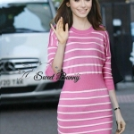 Mail stripe knit dress by Sweet Bunny