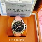 Panerai Luminor 049 - Black Dial Pink Leather
