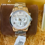 Michael Kors Watches Silver Chronograph Runway Watch - Mk 5076