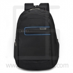 Laptop Notebook Backpack, Waterproof, Men & Women, Color Line, Classic Black