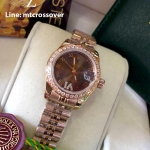 Rolex Datejust Lady - Rose Gold Brown Dial