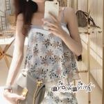 เสื้อผ้าแฟชั่นเกาหลี Lady Ribbon Thailand Seoul Secret Say's...Sweet Pastel Flower Pattern Set