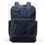 Jeans Denim Backpack, Vintage Style, Big Size-Blue