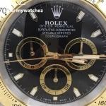 Rolex Daytona Cosmograph Black Dial Two Tone - Wall Clock