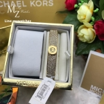 Michael Kors Fulton Gold-Tone and Glitz Bangle Bracelet