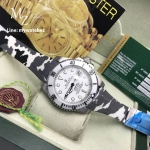 Rolex Submariner Date - White Dial Bamford/Camo Strap