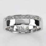 แหวนทองคำขาว ประดับเพชร