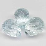 พลอยอะความาลีน (Aquamarine) พลอยธรรมชาติแท้ น้ำหนัก 3.70 กะรัต
