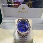 ROLEX Oyster Datejust Dark-Blue Stainless Steel