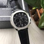 Piaget Polo S Chronograph 42MM - Black Dial Leather Strap