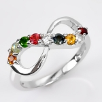 แหวนนพเก้า Infinity แหวนพลอยแท้ เงินแท้