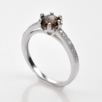 แหวนพลอยแท้ แหวนเงิน925 พลอย ควอตซ์ ประดับเพชร CZ ชุบทองคำขาว