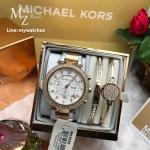 Michael Kors Parker Two Tone Glitz MK5820 + Bracelet Set