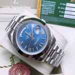 ROLEX Day-Date Blue Dial - Smooth Bezel
