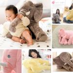 หมอนตุ๊กตาช้าง ขนาด 40cm และ 60cm
