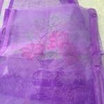 ม่านกันยุงแบบพิมพ์ลาย ไชส์ 100 สีม่วง/แจกันดอกไม้จีน
