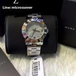 Marc Jacobs Amy Crystal Silver Bracelet Watch MBM3181