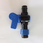 วาล์วต่อเทปน้ำหยด + ท่อ PVC (ก็อกฟ้า) พร้อมลูกยาง 16 มิล