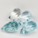 พลอยอะความาลีน (Aquamarine) พลอยธรรมชาติแท้ น้ำหนัก 3.45 กะรัต