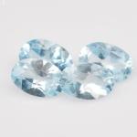 พลอยบลูโทแพซ (Sky BlueTopaz) พลอยธรรมชาติแท้ น้ำหนัก 2.10 กะรัต