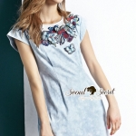 Seoul Secret Say's... Butterfly Stick Denim Dress