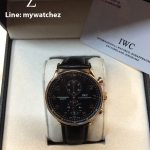 IWC Portugese Black Dial Chronograph# IW371482