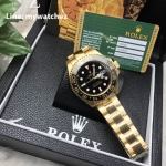 Rolex GMT MasterII Ref:116718LN Yellow Gold/Black Dial